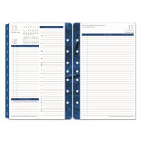 FranklinCovey Monticello Dated Two-Page-per-Day Planner Refill, 5 1/2 x 8 1/2, 2019 FDP36229