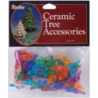 "Ceramic Christmas Tree Bulbs .625"" 100/Pkg NOTM429685"