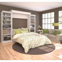 Bestar Versatile by Bestar 115'' Queen Wall bed kit in White BESBES4088117