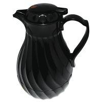 Hormel Poly Lined Carafe, Swirl Design, 64oz Capacity, Black HOR402264B