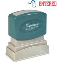 Xstamper Red/Blue ENTERED Title Stamp XST2027
