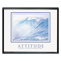 Advantus Attitude/Waves Framed Motivational Print, 30w x 24h AVT78024