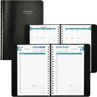 Brownline 12-Month Daily Academic Planner REDCA201BLK