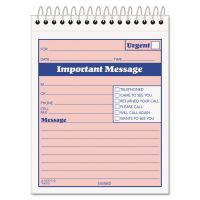 TOPS Telephone Message Book with Fax/Mobile Section, 4-1/4 x 5 1/2, Two-Part, 50/Book TOP4010