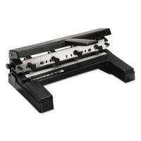 """Swingline 40-Sheet Two-to-Four-Hole Adjustable Punch, 9/32"""" Holes, Black SWI74450"""