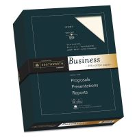 Southworth 25% Cotton Business Paper, 24lb, 95 Bright, Ivory, 8 1/2 x 11, 500 Sheets SOU404IC