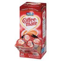 Coffee-mate Liquid Coffee Creamer, Cinnamon Vanilla, 0.375 oz Mini Cups, 50/Box NES42498