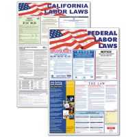 Advantus State/Federal Labor Law Legally Required Multi-Colored Poster, 24 x 36 AVT83905