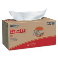 WypAll* L30 Towels, POP-UP Box, 10 x 9 4/5, White, 120/Box, 10 Boxes/Carton KCC03086