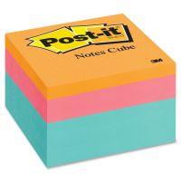 Post-it Notes Original Cubes, 3 x 3, Aqua Wave, 470-Sheet MMM2056FP