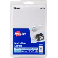 "Avery White Removable Print/Write Labels .5""X.75"" 1008/Pkg NOTM245399"