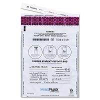 MMF Industries FREEZFraud Tamper-Evident Deposit Bags, 9 x 12, White, 100/Box MMF236210306