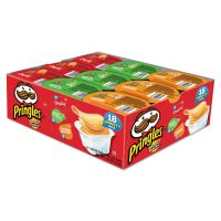 Pringles Potato Chips, Variety Pack, 0.74 oz Canister, 18/Box KEB18251