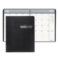 House of Doolittle Academic Ruled Monthly Planner, 14-Mo. July-August, 8 1/2 x 11, Black, 2017-2018 HOD26502