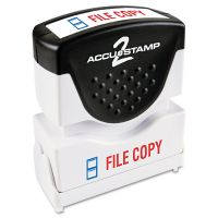 ACCUSTAMP2 Pre-Inked Shutter Stamp, Red/Blue, FILE COPY, 1 5/8 x 1/2 COS035524