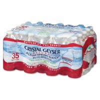 Crystal Geyser Natural Alpine Spring Water, 16.9 oz Bottle, 35/Carton CGW35001CTDEP