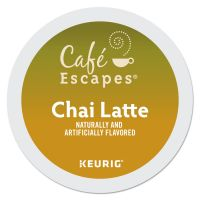 Café Escapes Café Escapes Chai Latte K-Cups, 24/Box GMT6805
