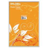 DAX U-Channel Poster Frame, Contemporary Clear Plastic Window, 24 x 36, Clear Border DAX281136T