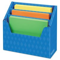 Bankers Box Folder Holder with Compartment Organizer, 12 1/2 x 9 x 5 5/8, Blue, 6/Carton FEL3381001