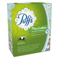 Puffs Plus Lotion Facial Tissue, White, 2-Ply, 116/Box, 3 Boxes/Pack PGC82086