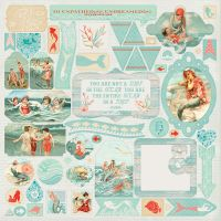 "Sea-Maiden Cardstock Stickers 12""X12"" NOTM458198"