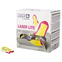 Howard Leight by Honeywell LL-30 Laser Lite Single-Use Earplugs, Corded, 32NRR, Magenta/Yellow, 100 Pairs HOWLL30