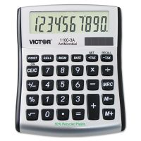 Victor 1100-3A Antimicrobial Compact Desktop Calculator, 10-Digit LCD VCT11003A
