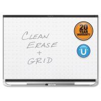 Quartet Prestige 2 Magnetic Total Erase Whiteboard, 72 x 48, Black Frame QRTTEM547B