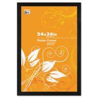 DAX Black Solid Wood Poster Frames w/Plastic Window, Wide Profile, 24 x 36 DAX2863U2X
