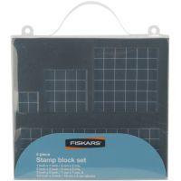 Fiskars Stamp Block Set 4/Pkg NOTM342534