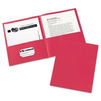 Avery Two-Pocket Folder, 40-Sheet Capacity, Red, 25/Box AVE47989