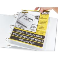 C-Line Top-Load Polypropylene Sheet Protectors, Letter, Standard Weight, Clear, 100/Box CLI90125