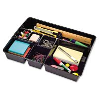 Universal Recycled Deep Drawer Organizer, 7 Sections, 15 x 11 7/8 x 2 3/4, Black UNV08152