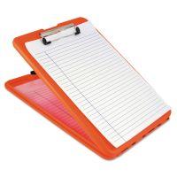 "Saunders SlimMate Storage Clipboard, 1/2"" Clip Cap, 8 1/2 x 11 Sheets, Hi-Vis Orange SAU00579"