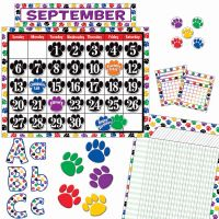 Teacher Created Resources Paw Prints Accents Board Set TCR9668