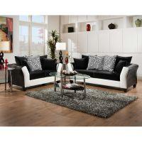 Flash Furniture Riverstone Implosion Black Velvet Living Room Set FHFRS417302LSSETGG