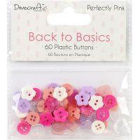 Dovecraft Back To Basics Plastic Buttons 60/Pkg NOTM091767