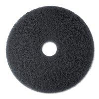 "3M High Productivity Floor Pad 7300, 17"" Diameter, Black, 5/Carton MMM08275"