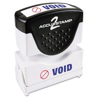 ACCUSTAMP2 Pre-Inked Shutter Stamp, Red/Blue, VOID, 1 5/8 x 1/2 COS035539