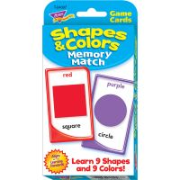 Trend Shapes/Colors Memory Match Card Game TEP24007