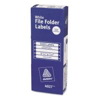 Avery Dot Matrix File Folder Labels, 7/16 x 3 1/2, White, 5000/Box AVE4027