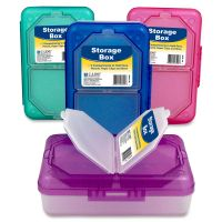 C-Line Products Storage Box, Assorted, 1 Box (Color May Vary) CLI48500