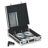 Vaultz Locking Media Binder, Holds 200 Discs, Black IDEVZ01076
