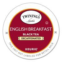 TWININGS Tea K-Cups, English Breakfast Decaffeinated Tea, 0.11 oz K-Cups, 24/Box TWG08757