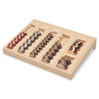 MMF Industries One-Piece Plastic Countex II Coin Tray w/6 Compartments, Sand MMF221611003