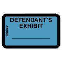 Tabbies Defendant's Exhibit Legal File Labels TAB58093