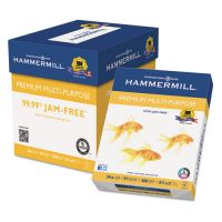 Hammermill Premium Multipurpose Paper, 97 Brightness, 24 lb, 8 1/2 x 11, White, 2500 Sheets/Carton HAM105810