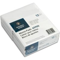 Business Source Plain Memo Pads BSN65900CT