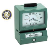 Acroprint Model 125 Analog Manual Print Time Clock with Month/Date/0-12 Hours/Minutes ACP011070411