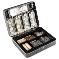 SteelMaster Cash Box w/Combination Lock, Charcoal MMF2216190G2